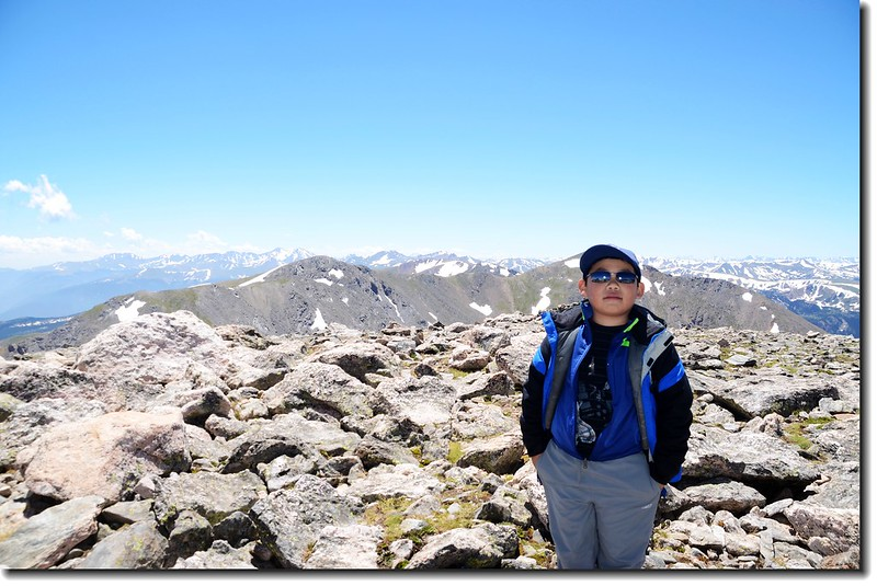 Jacob on James Peak's summit 4