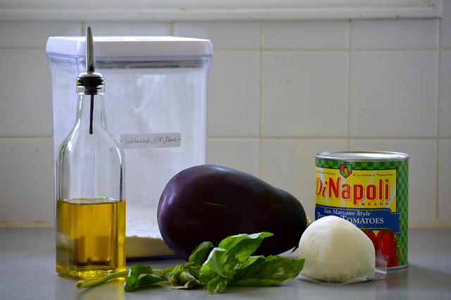 Eggplant pizza galette ingredients