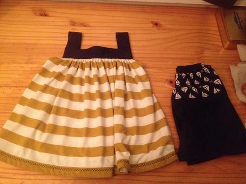 Summer set top and sage shorts