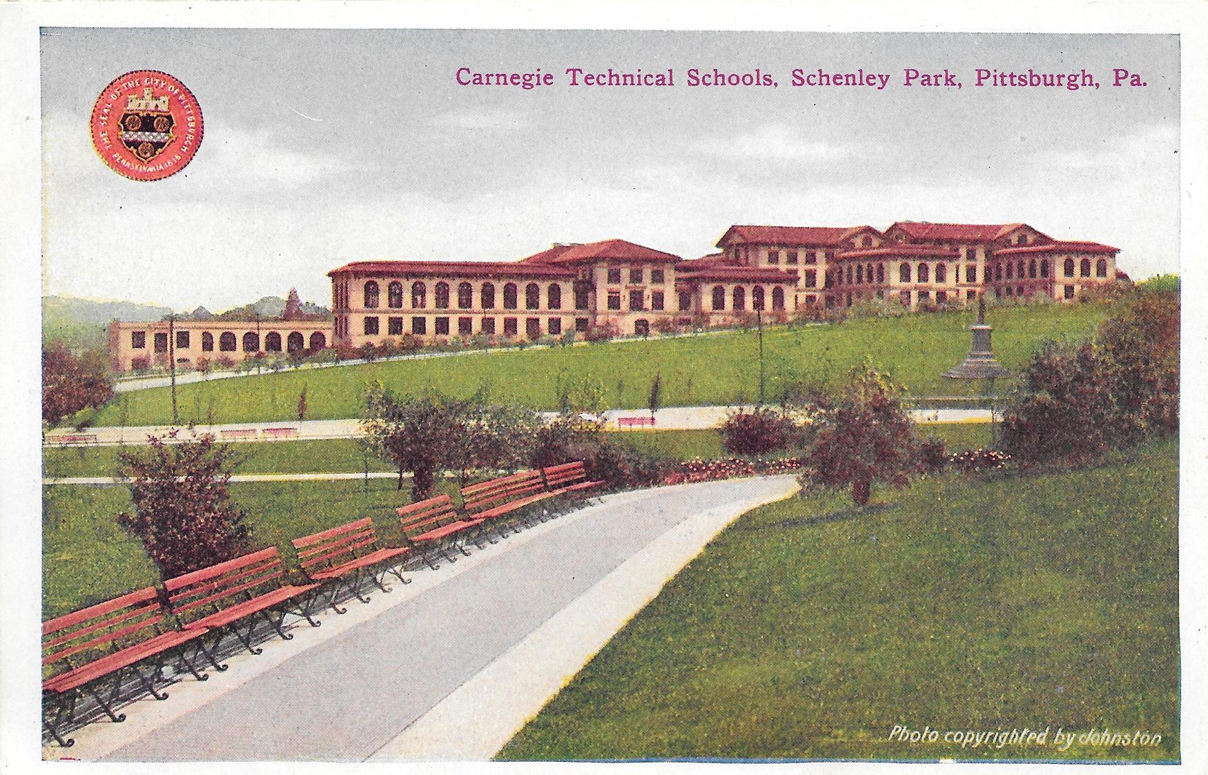 Postcard19-CarnegieTechnicalSchoolsSchenleyPark