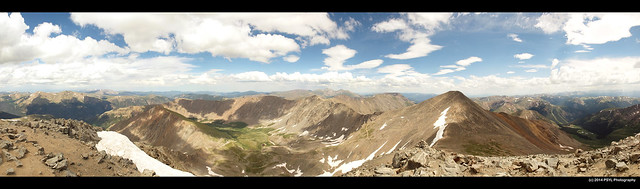 Panoramic view from Torreys Peak