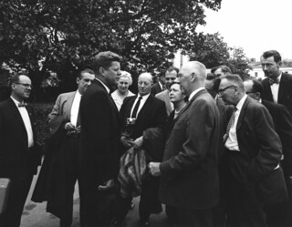 President John F. Kennedy Visits with Reporters Upon Returning from Atlantic City, New Jersey