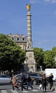 Image of July Column. street paris placedelabastille colonnedejuillet spiritoffreedom happybastilleday 1830revolution jeniedeliberte