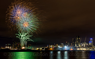Docklands Winter Fireworks 11th July 2014