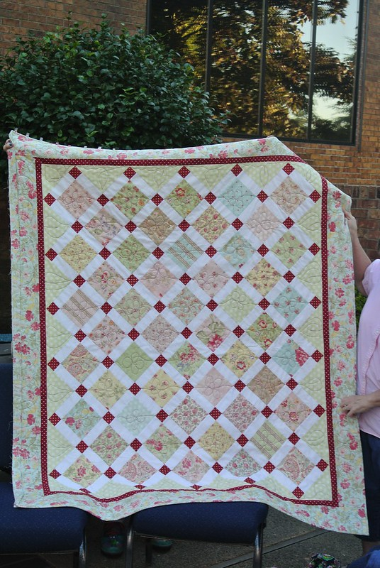 Kathy's charm quilt
