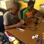 Sirviece and Cartez soldering their own rings