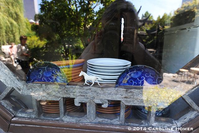 window of teahouse