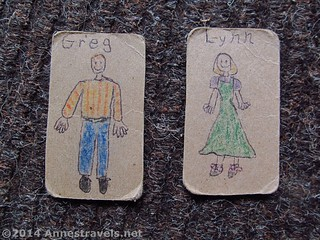 Examples of paper dolls for road trips of friends and family members