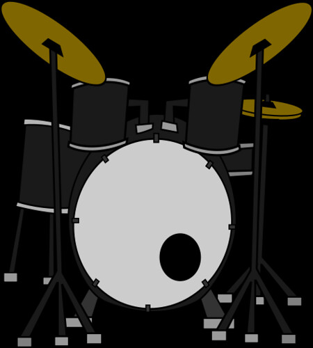 Drums courtesy of Marcelomotta/Wikimedia Commons