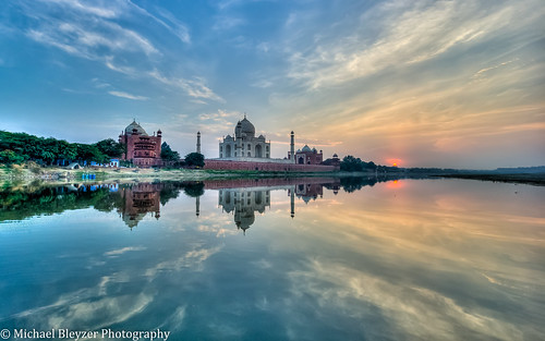 sunset sky sun india clouds reflections mahal tajmahal agra temples hdr 5fhdr