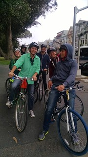 A small portion of the BikeBQ crew on the way back to the office.