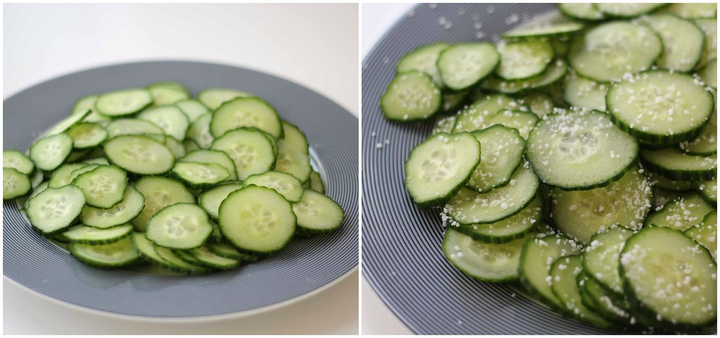 Recipe for homemade Cucumber Salad / Sliced Pickles