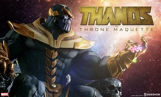 Sideshow Collectibles【王座上的薩諾斯】Thanos on Throne 1/4 比例坐姿雕像作品