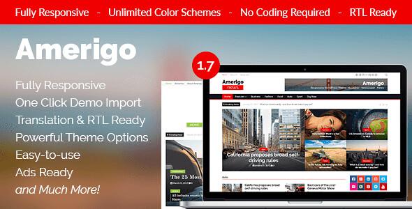 Amerigo WordPress Theme free download