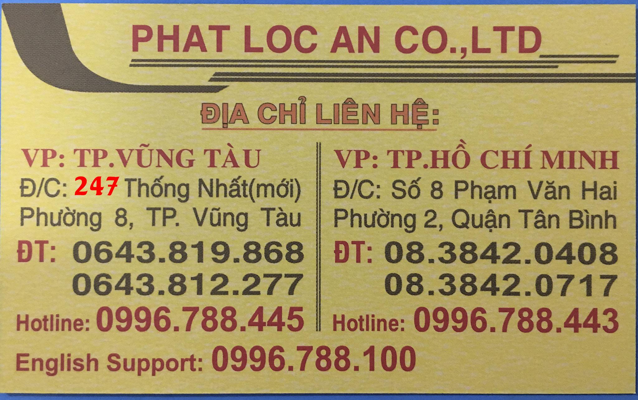 Đại lý vé máy bay Phát Lộc An Vũng Tàu