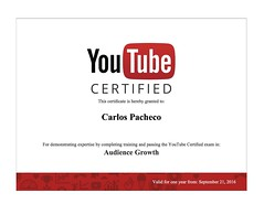 YouTube Audience Growth Certificate