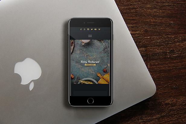 Evory - Responsive Restaurant Adobe Muse Template - 11