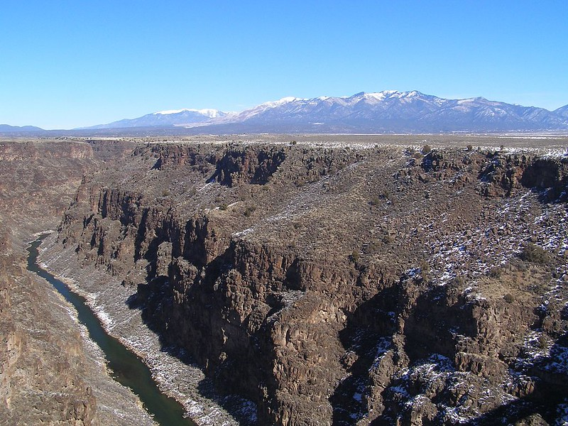 Rio Grande Gorge, an exsample of plate tectonics