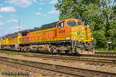 BNSF 4594 | GE C44-9W | BNSF Thayer South Subdivision