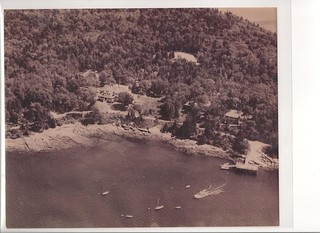 1930's Spruce Point Inn Resort Aerial