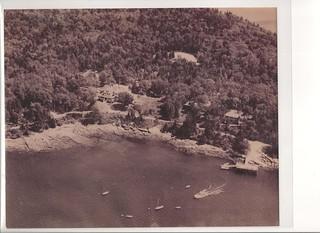 1930's Spruce Point Inn Resort Aerial