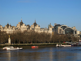 View from the South bank of Thames