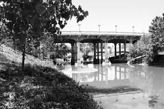 Sabine Street Bridge over Buffalo Bayou, Houston, Texas 1404091130bw