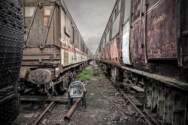 Trains In A Line