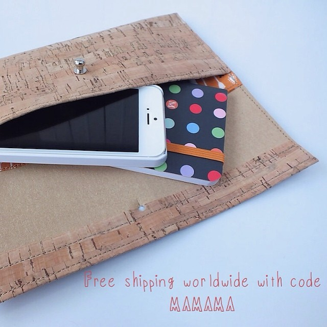 Cork wallet free shipping for mom's day