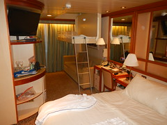 Stateroom set up with drop down bunk