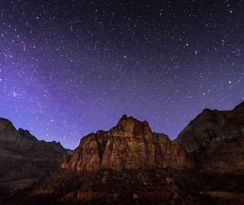 Starry night in Zion National Park