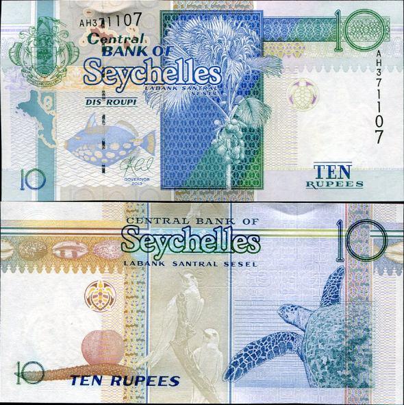 10 Rupií Seychely 2013