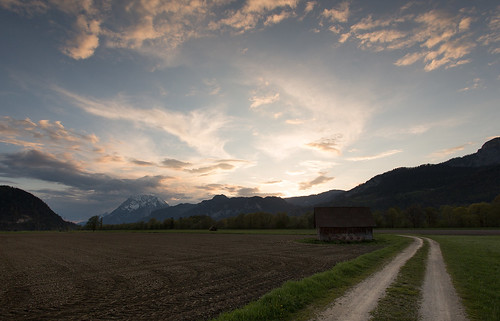 road sunset mountain field clouds canon austria cabin 5d styria 1740l liezen grimming 5dmkiii