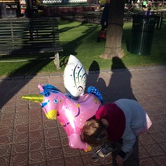 Unicorn and child reunited. #unicorn #tivoli #easter #copenhagen