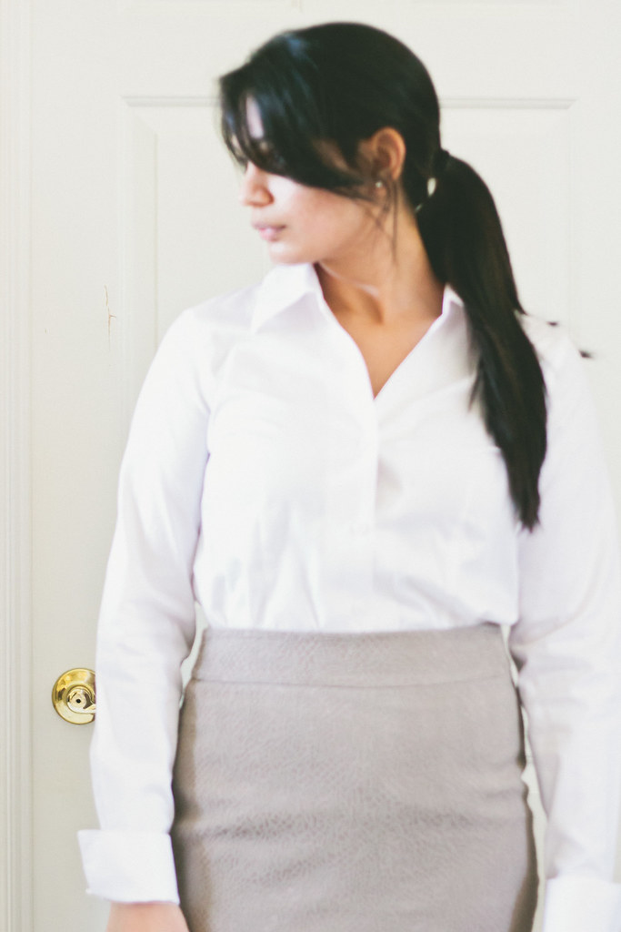 {in the office : the button down shirt} via chevrons & éclairs