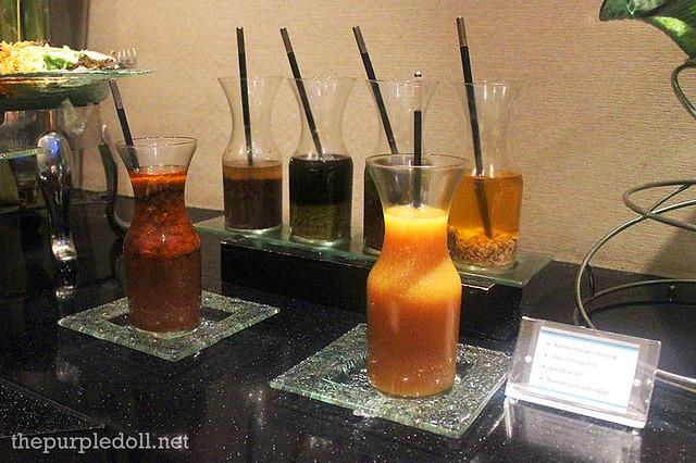 Salad dressings - Roasted Pumpkin, Walnut Vinaigrette, Basil Olive Oil, Roasted Garlic and Shallot