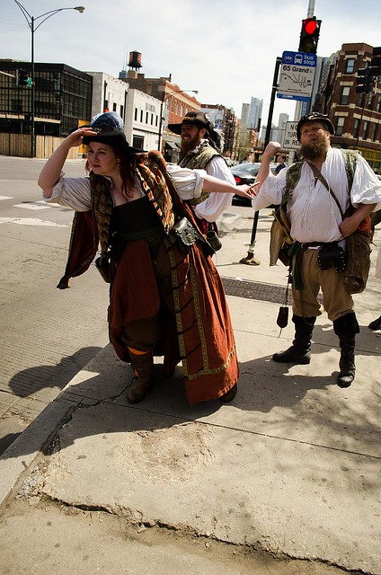 The pirates search for a new mode of conveyance...
