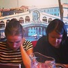 Peloton writing, Venetian eating. #Lahti #demoshelsinki