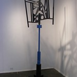 Andy Libertone -  Upper Deco. Powder-coated steel, 112x33x25""