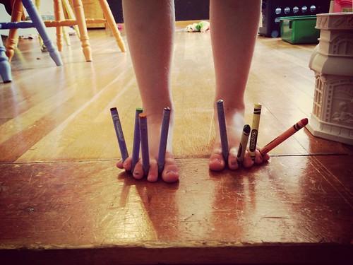 Berkley crayons feet