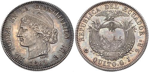 Ecuador 1862 GL 2 Reales