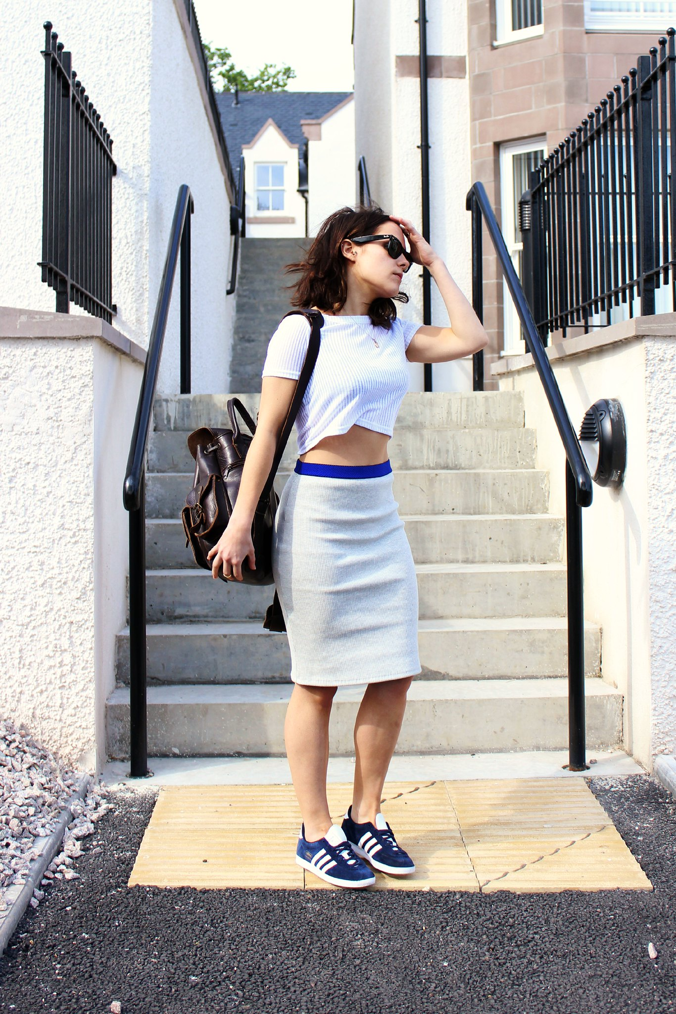 zara grey pencil skirt
