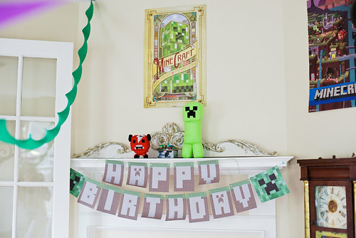 Minecraft birthday party.