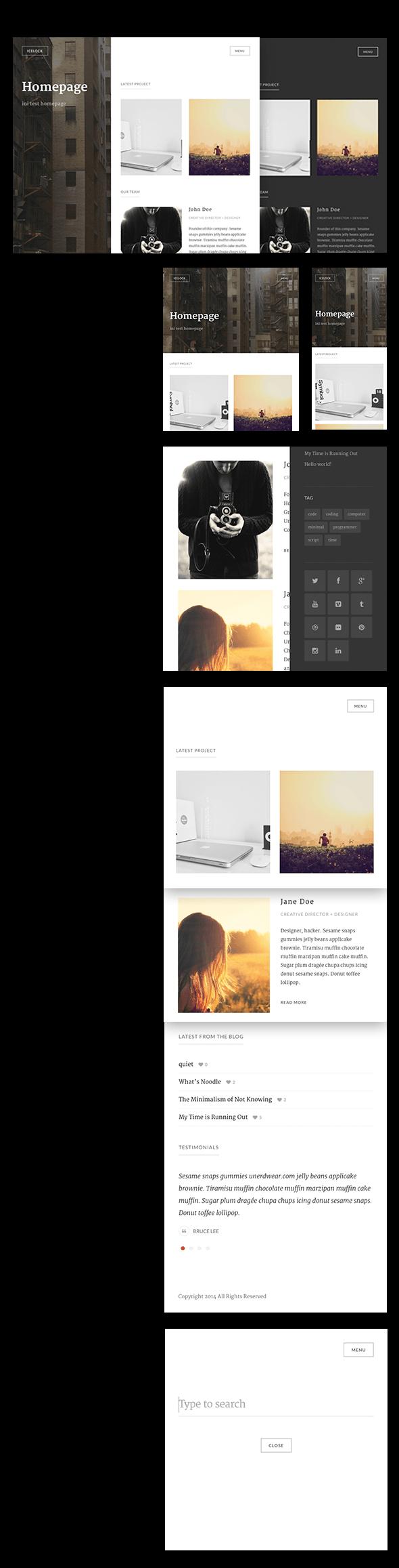 WordPress theme Icelock - Portfolio WordPress Theme (Portfolio)