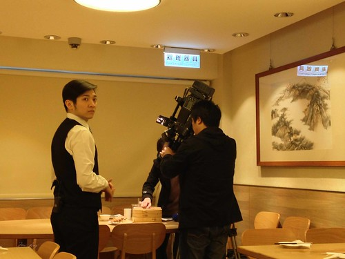 The film crew at Din Tai Fung
