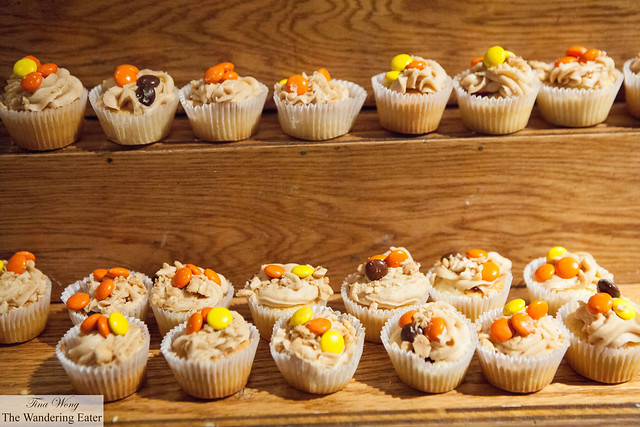 Peanut butter & jelly cupcakes by Hill Country Barbecue