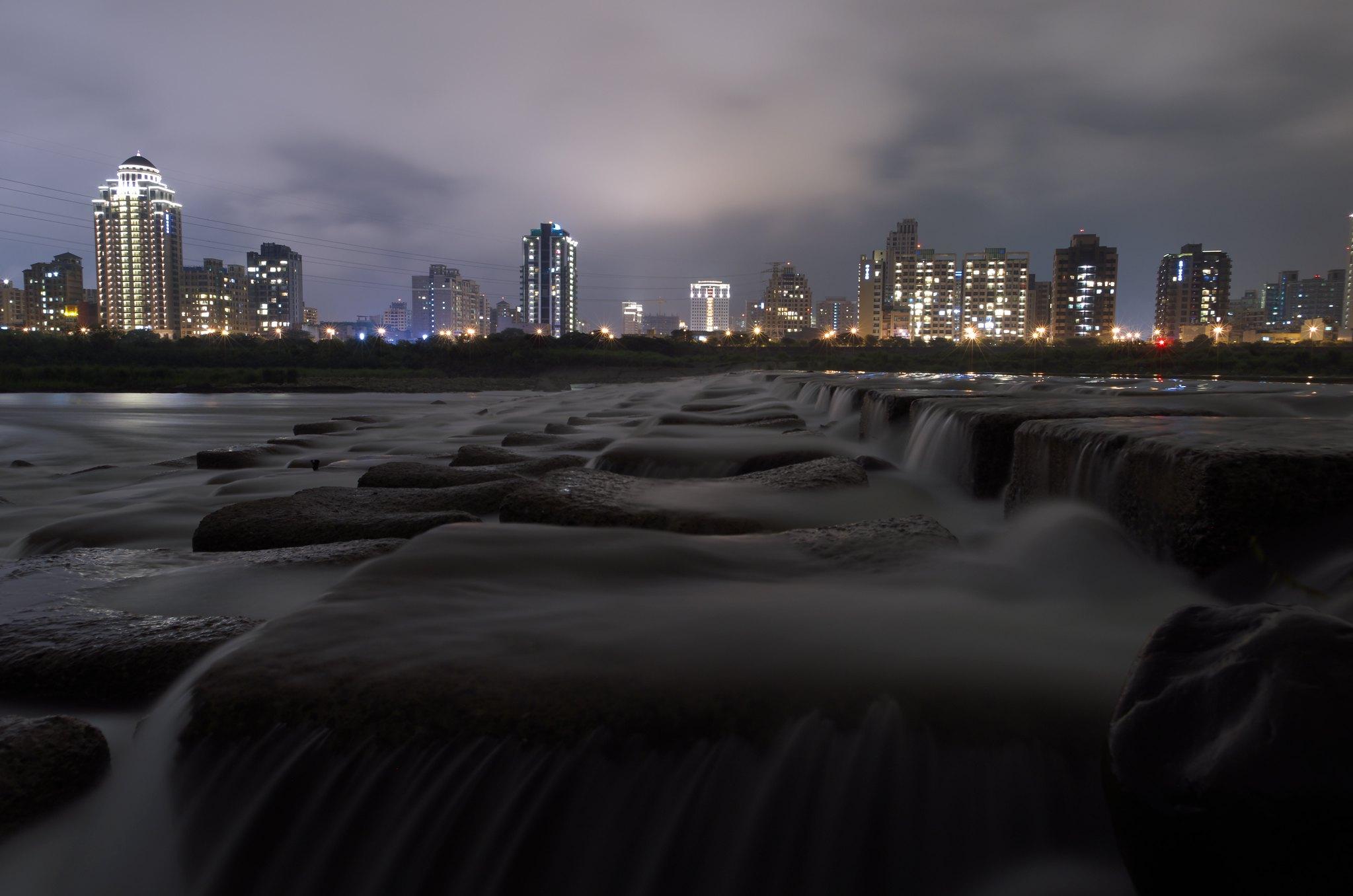 頭前溪夜景