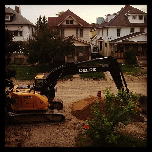#fmsphotoaday June 2 - Doing. They're STILL digging up our front yard.