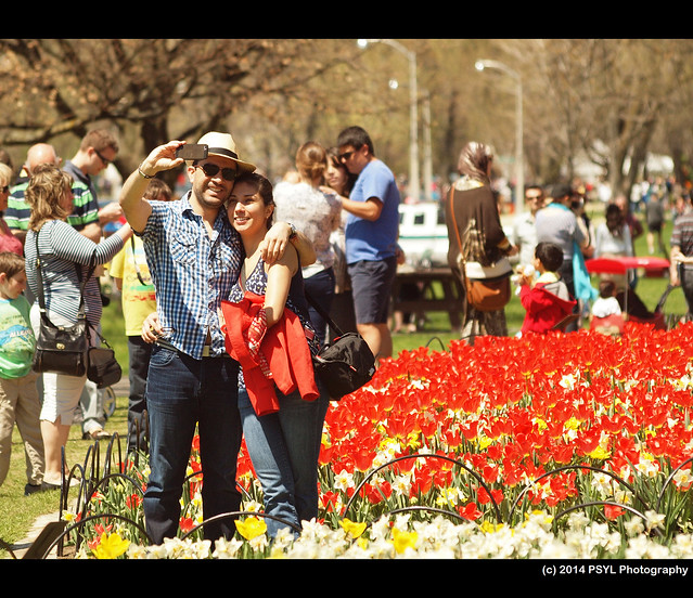 Couple at Tulip Festival