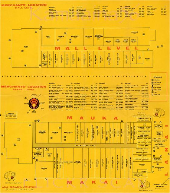 Ala Moana Merchants Map C1964 Flickr Photo Sharing